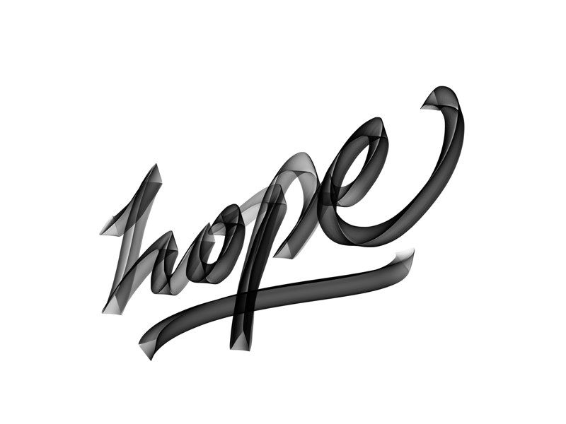 Hope relief volume 3d typography typo lettrage letters lettering handwritting handcraft hope