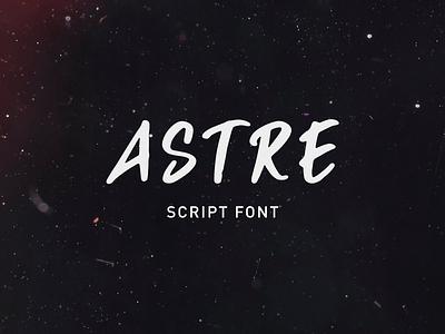 Astre - New font identity signpaint modern magazine invitation branding logo lettering writing hand fashion drawn calligraphy script brush font typography star astre