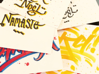 Calligraphy - Fnac typography lettering writing handcraft calligraphy christmas share present people store fnac event workshop