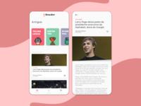 G Reader - Articles Reader App Concept