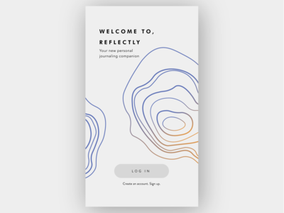 DailyUiChallenge- Log in page for Reflectly