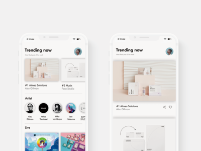DailyUiChallenge- Trending page for a creative platform