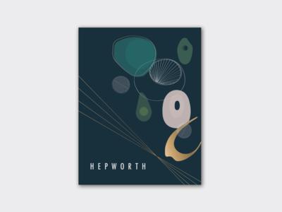 A design exhibition poster for Barbara Hepworth
