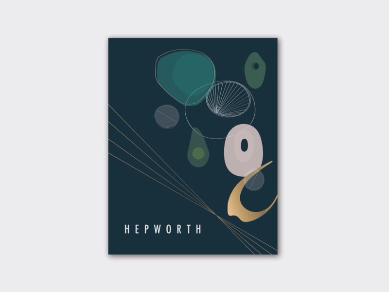 A design exhibition poster for Barbara Hepworth ui illustrator ux vector app icon ios icons identity website logo typography minimal illustration flat graphic design design clean branding brand