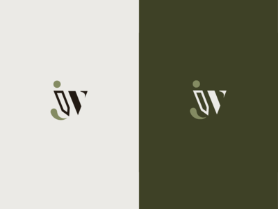 """A monogram with """"J"""" and """"W"""" initials"""