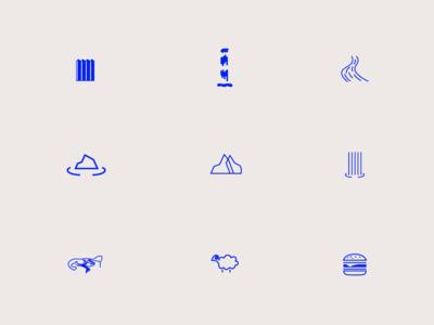 Icon set- Iceland