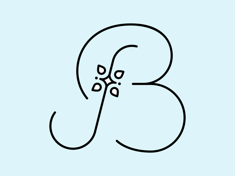 B-2 logotype vector brand and identity crossfit typography design logodesign logo