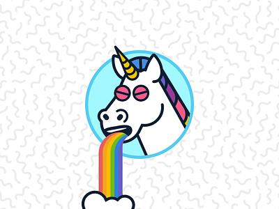 Norm Barfing illustration unicorns wet sick barf unicorn