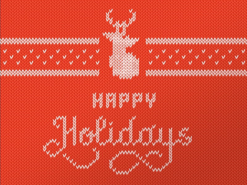 Tacky Holidays! tacky sweater ugly hand lettering script knit happy holidays merry christmas deer