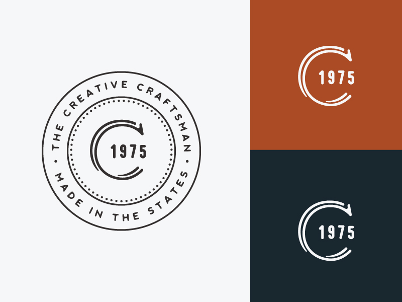 Creative Craftsman Badge Logo By Alex Torres Dribbble Dribbble