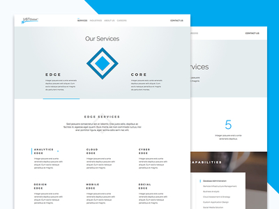 Services Page WIP case study services google material flat clean minimal web