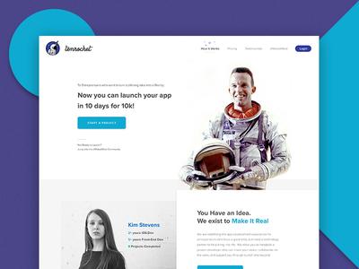 tenrocket preview landing homepage services google material flat clean minimal web