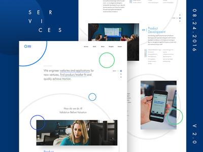 Services Page Preview float circles ux ui services web