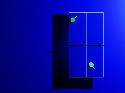 Ping Pong low poly blender neon render 3d ping pong
