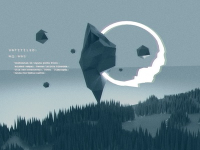 Untitled 03.002 ui low poly minimal ufo wilderness abstract blender 3d