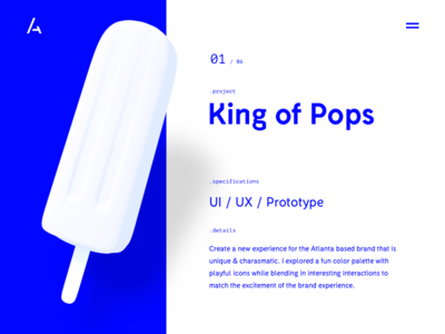 Portfolio WIP myeyesburnafterlookingatthis web minimal ui popsicles blue