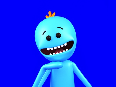 Mr. Meeseeks! rick and morty adult swim character cycles render mr. meeseeks 3d blender
