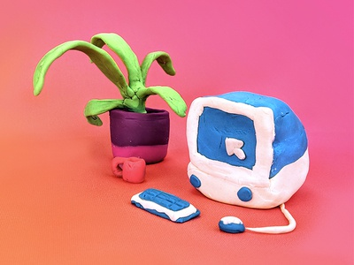 Work Doh ad gradient clay play doh imac