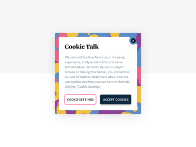 Circus Cookies ux web ui cookie banner
