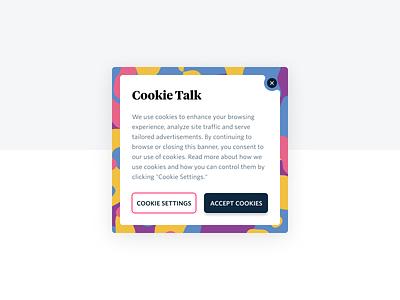 Circus Cookies ux web ui cookie banner