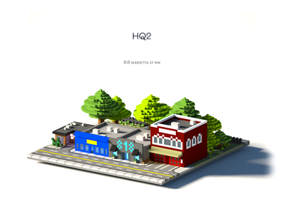 FullStory HQ2 Poster minimal poster building 3d