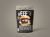 vEEF Smokey BBQ Packaging Design