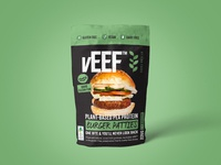 vEEF Pea Protein Packaging Design
