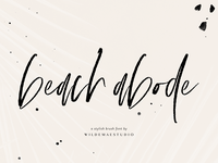 Beach Abode Brush Script Font by Wilde Mae Studio