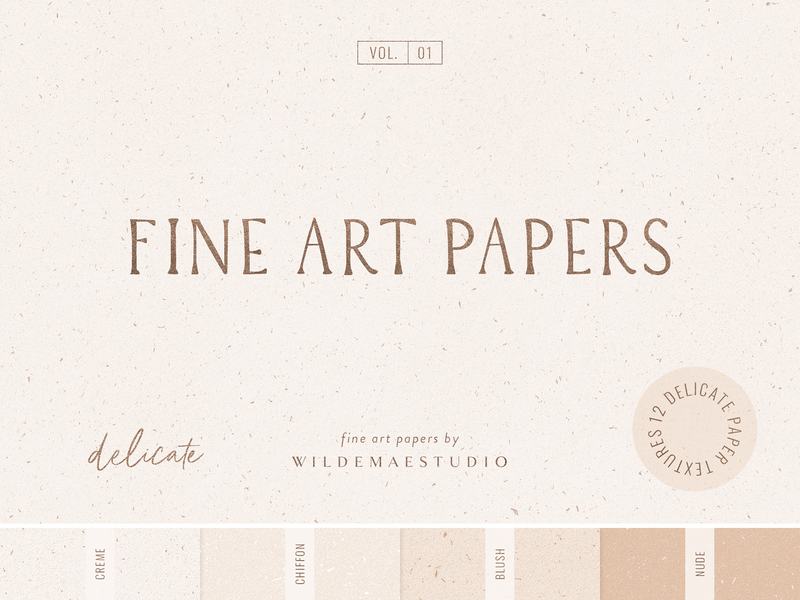 Fine Art Papers Vol  I by Wilde Mae Studio by Wilde Mae Studio on