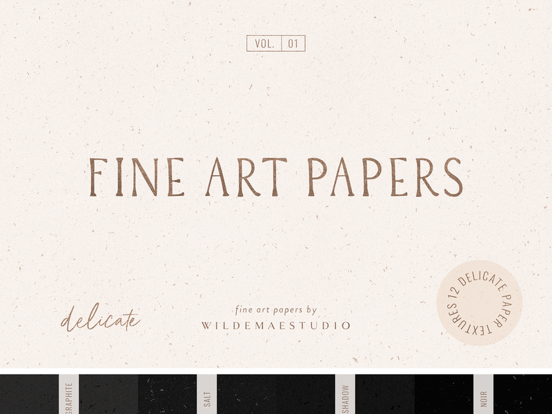Fine Art Papers Vol. I by Wilde Mae Studio resources black noise overlay wedding elegant grunge watercolor typography illustration font logo natural organic collection paper paper pack texture pack textured texture