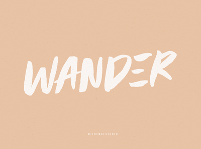 Wander Brush Display Font by Wilde Mae Studio