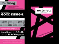 Nutmeg Font Poster