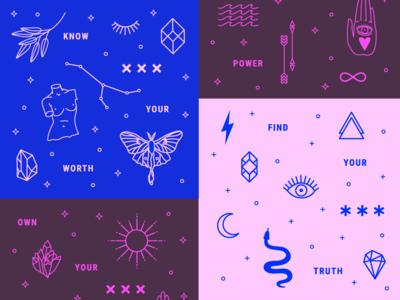 Mystic Motivation— Line Art Illustration