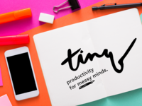 Logo + Visual Identity — Tinq Concept Productivity App