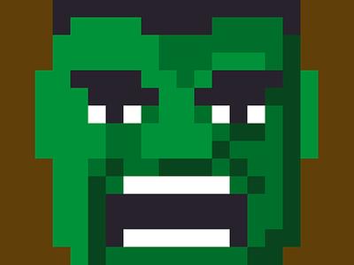 Hulk pixel art