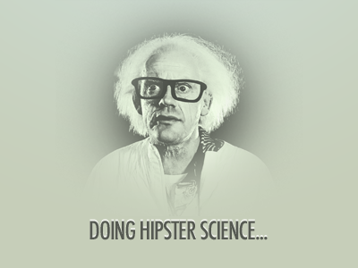Doing Hipster Science monochromatic hipster