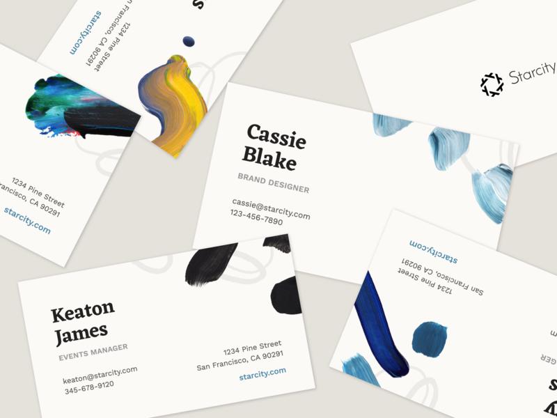 Starcity Business Cards Design