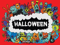 Halloween,Cartoon Monsters collection.