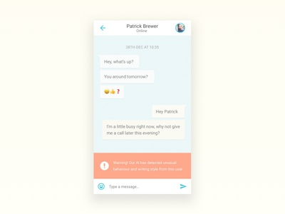 DailyUI #13 - Direct Messaging with AI