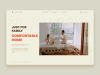 Household Website _ UI illustration design landingpage homepage home house uiux ux ui web website
