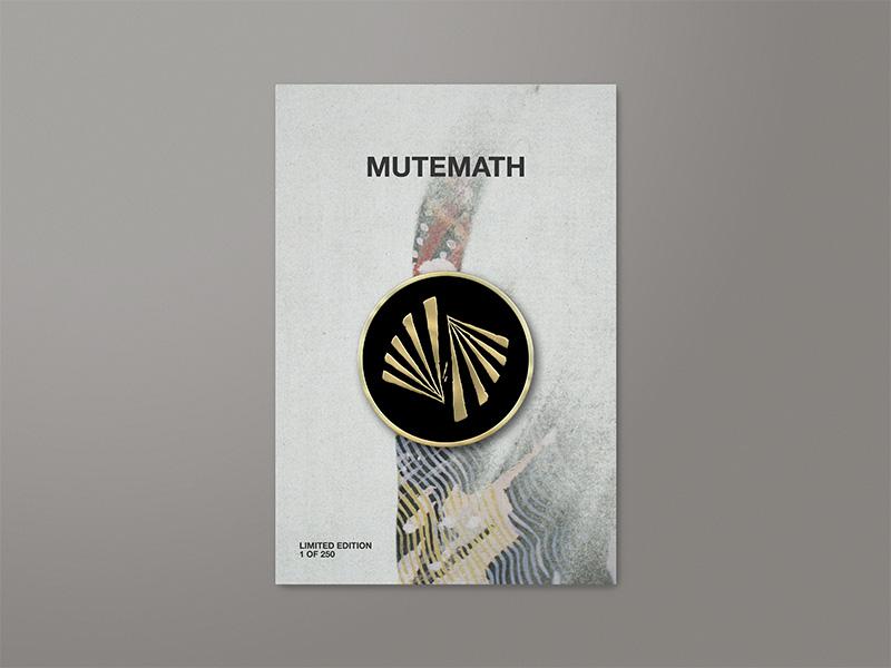 MUTEMATH / Enamel Pin enamel pin mcnair haus darren king play dead mmlp5 mutemath colors mood texture graphic design art direction