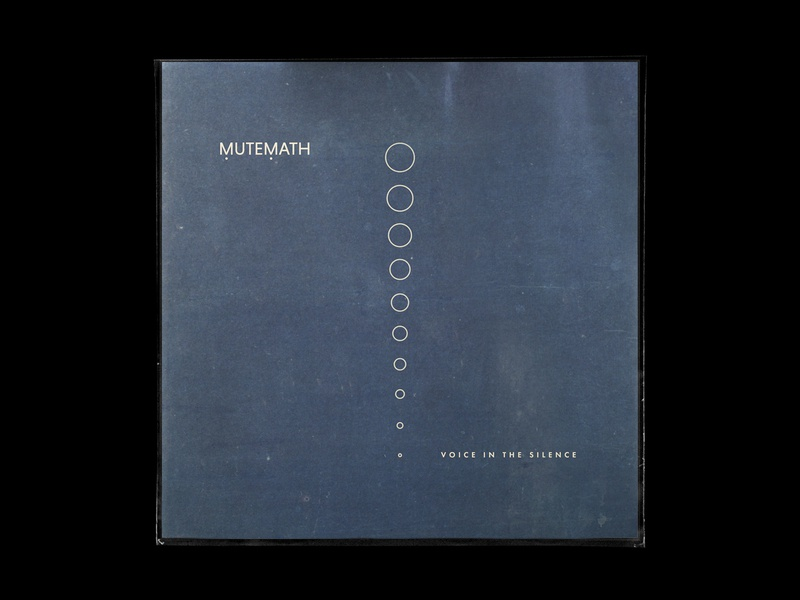 MUTEMATH / Voice In The Silence justchecking anyonereadingthese minimal typography texture color vinyl paul meany mutemath design art direction creative direction