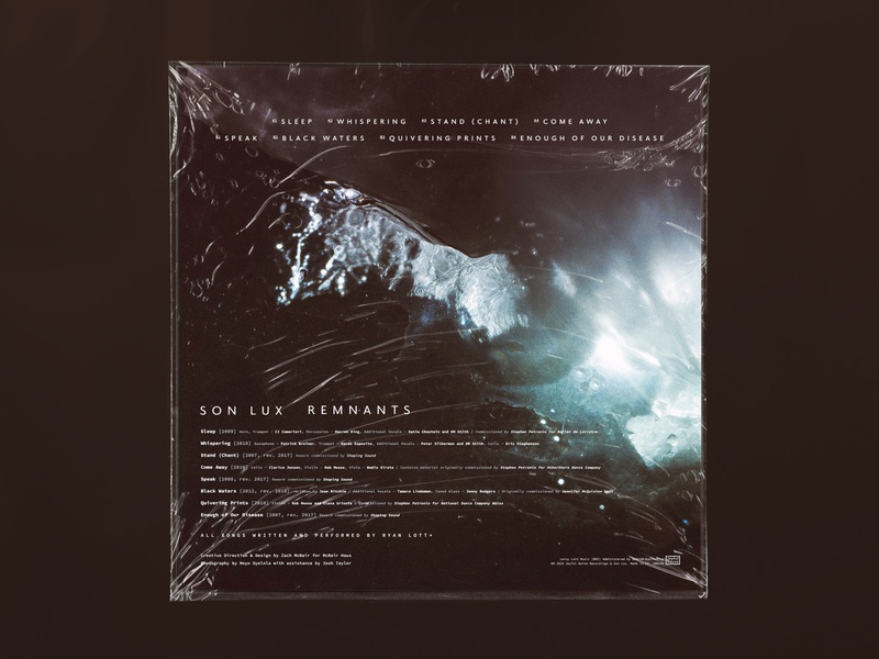 Son Lux / Remnants (Back Panel) colors music packaging branding hashtagsaretheworst hashtags wtf space lighting mood ryan lott son lux vinyl layout design photography art direction creative direction