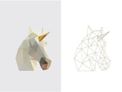 Low poly unicorn unicorn lowpoly