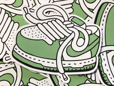 Mint dunks graffiti sneaker illustration sticker dunks shoe nike