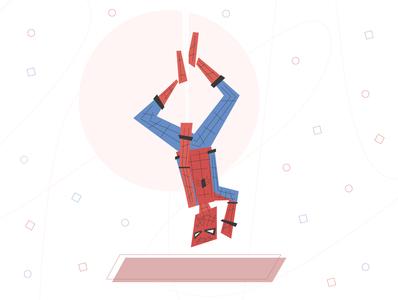 Spiderman spider geometry lines spiderman ai design vector illustration