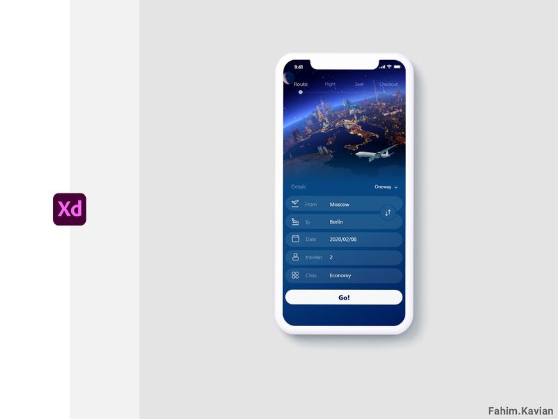 Airplane Booking design ui ux app