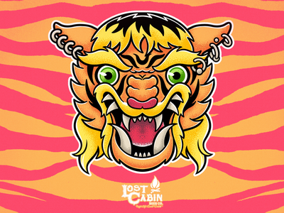 Pie Saw A Tiger IPA - Lost Cabin Beer Co netflix procreate branding tiger ipa tigerking design illustration beer drawing