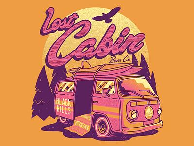 Van Life teedesign photoshop vanlife vans beer camping commission ipa drawing