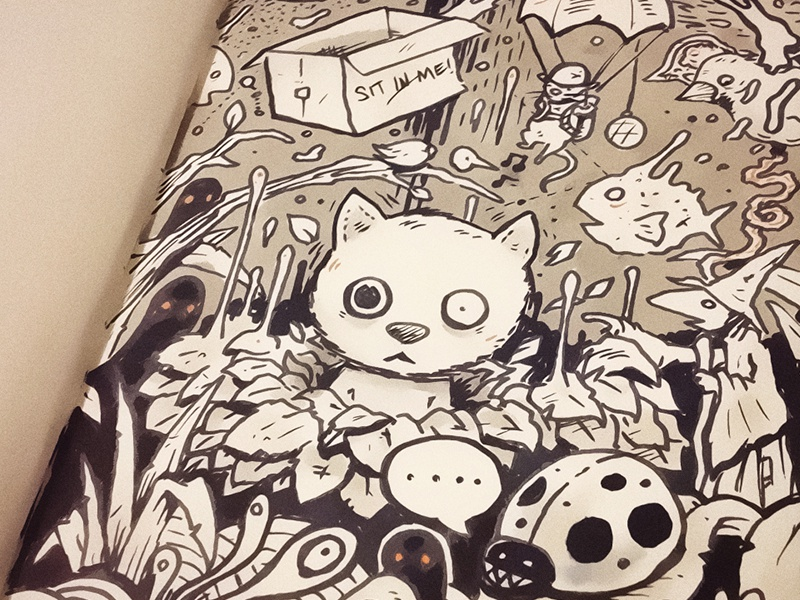Catnip is a helluva drug. catnip cats lizard sketchbook moleskine drawing